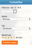Produktfilter Dartscheiben-Testsieger.de